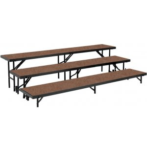 Standing Choir Riser Set - Hardboard, 3-Level