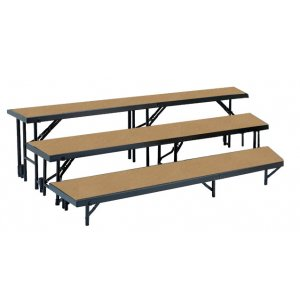 Standing Choir Riser Set - Tapered, Hardboard, 3-Level