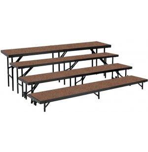 Standing Choir Riser Set - Hardboard, 4-Level