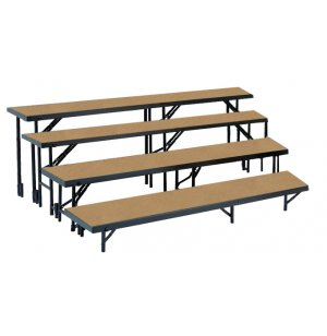 Standing Choir Riser Set - Tapered, Hardboard, 4-Level