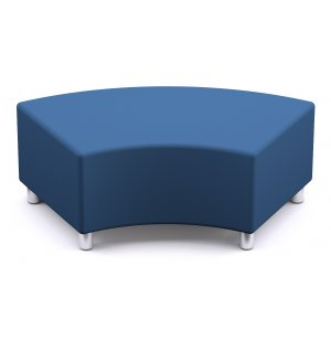Curved Lounge seating w/ post legs G1 Fabric
