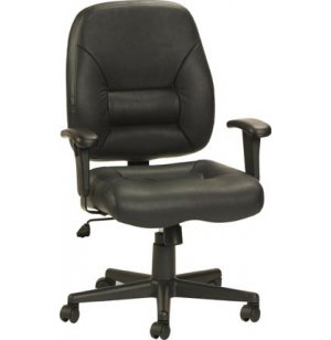 Mid Manager Leather Task Office Chair