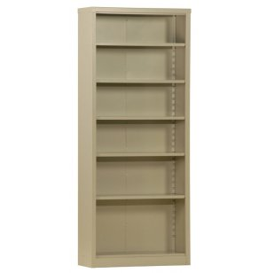 84-inch SnapIt Bookcase w/5 Adjustable Shelves