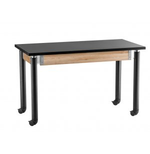 Adjustable Lab Table with Chem-Res Top and Casters