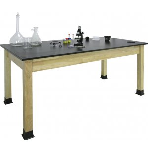Science Lab Table with Epoxy Resin Top