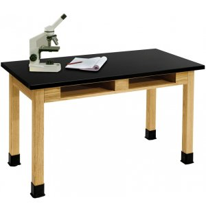 Science Lab Table with Phenolic Top and Book Boxes