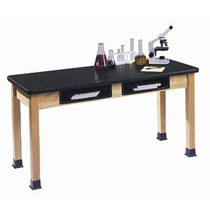 Science Lab Table w/Epoxy Resin Top and BookBoxes