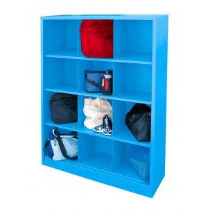 steel cubby storage unit 12 cubby scu 4861 preschool cubbies. Black Bedroom Furniture Sets. Home Design Ideas