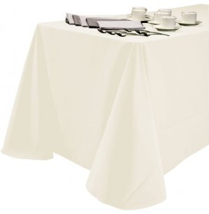 60x120 Tablecloth Cottunique White