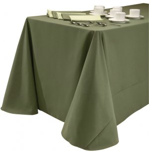 60x108 Tablecloth Dark Spun Polyester