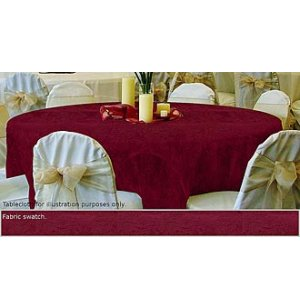 120in Round Tablecloth Damask