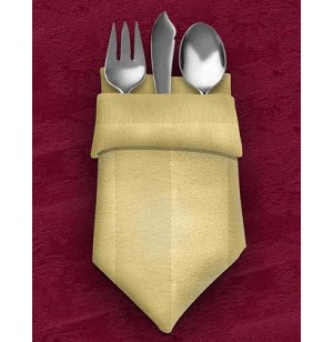 Lunch Napkins 17X17 12-Pack Tuxedo Stripe