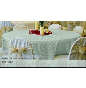 90in Round Tablecloth Tuxedo Stripe