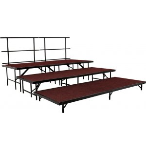 Seated Choir Riser Add-On Set, Carpeted