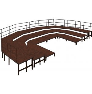 36in Deep Choral Riser Base Set, Carpeted