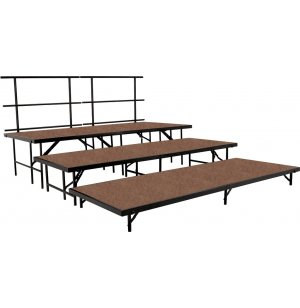 Seated Choir Riser Add-On Set, Hardboard