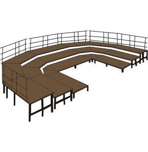 36in Deep Choral Riser Base Set, Hardboard
