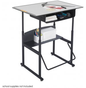 "Alphabetter Sit/Stand Desk - Premium Top, Bookbox, 36""x24"""