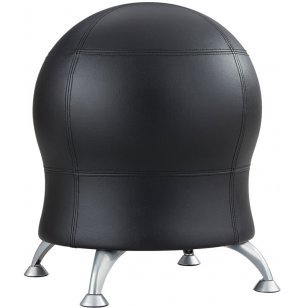 Dual-Height Zenergy™ Ball Chair - Black  Antimicrobial Vinyl