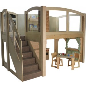 Explorer 25 Preschool Wave Loft with Recessed Steps