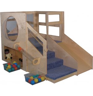 Adventurer Play Loft w/Bubble Panel