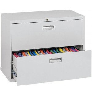 "600 Series Lateral File Cabinet - 2 Drawer, 36""W"