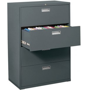 "600 Series Lateral File Cabinet - 4 Drawer, 36""W"