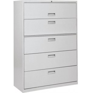 "600 Series Lateral File Cabinet - 5 Drawer, 42""W"