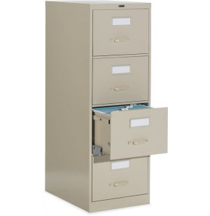 4-Drawer Letter Deluxe File Cabinet with Lock