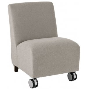 Siena Armless Guest Chair w/Casters