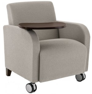 Siena Reception Chair w/ Casters and Swivel Tablet
