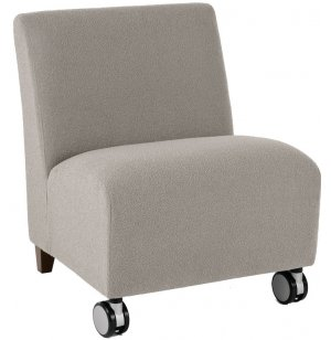 Siena Armless Oversized Club Chair w/Casters