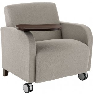 Siena Oversized Guest Chair w/Casters and Tablet