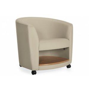 Sirena Mobile Lounge Chair with Shelf