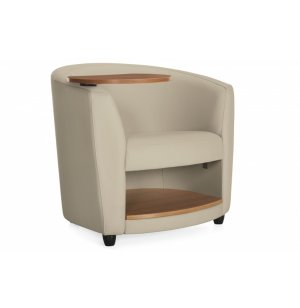 Sirena Lounge Chair with Laminate Tablet & Shelf