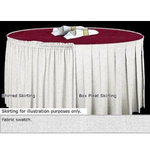 29in Box-Pleat Skirting Dark Spun Polyester