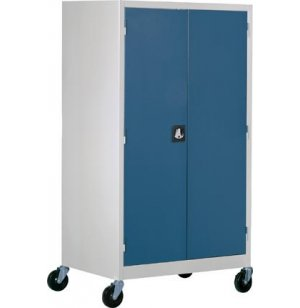 Mobile Storage Cabinet with Colored Doors