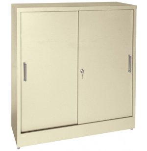 Counter-Height Sliding Storage Cabinet