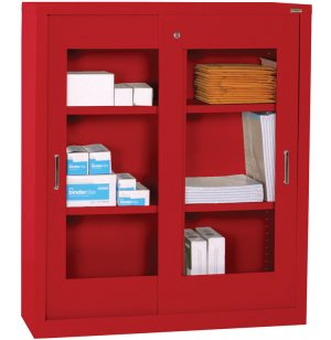 Counter-Ht Clearview Sliding Storage Cabinet
