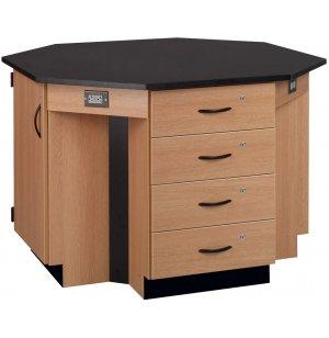 4-Student Octagon Island Table