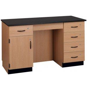 Compact Island Lab Desk