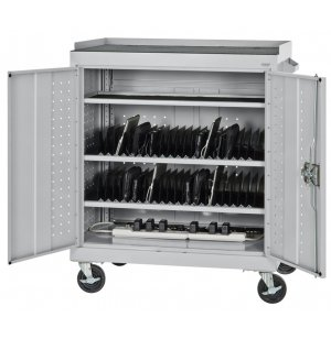 Tablet/iPad Storage Cart with A/C Charging System