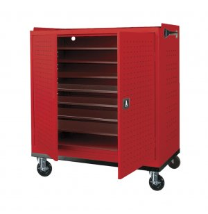 Mobile Laptop Charging & Storage Cart - 24-Capacity, Locking