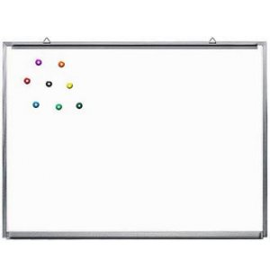 Magnetic Porcelain Whiteboard with Aluminum Frame