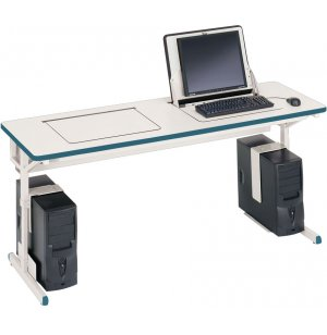 SmartDeck Computer Table For 2 Computers