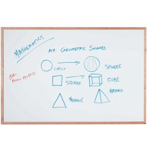 Magnetic Steel Whiteboard with Wood Frame