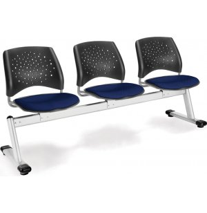 Stars Beam Seating in Fabric - 3 Seater