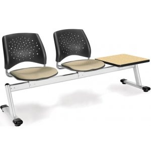 Stars Beam Seating in Fabric - 2 Seats, 1 Table