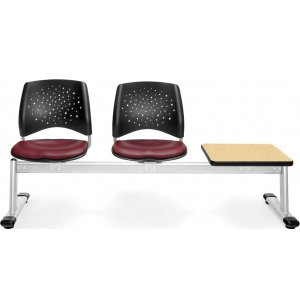 Stars Beam Seating in Vinyl - 2 Seats, 1 Table