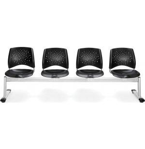 Stars Beam Seating in Plastic - 4 Seater